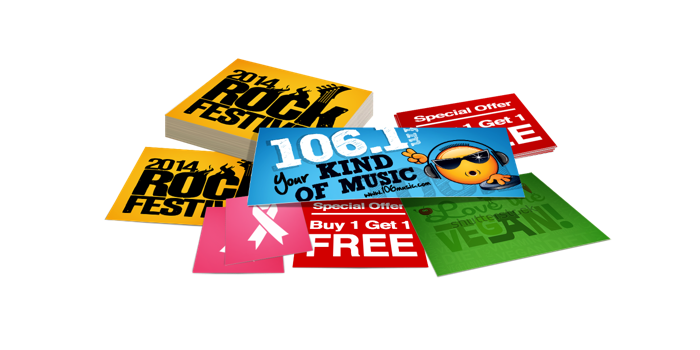 Cut-to-Size Promotional & Event Stickers