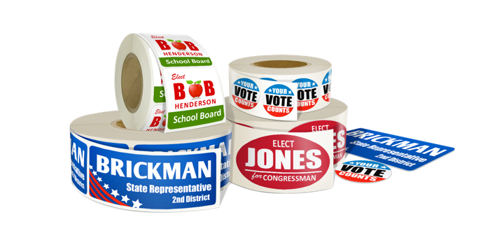 Roll Campaign & Political Stickers