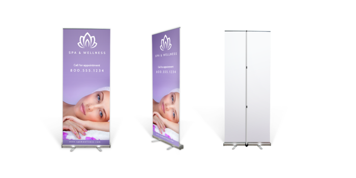 Retractable Portable Banner Stands For Advertising At