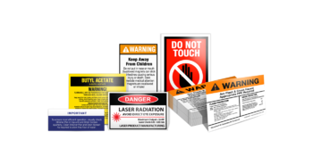 Cut-to-size Warning Labels