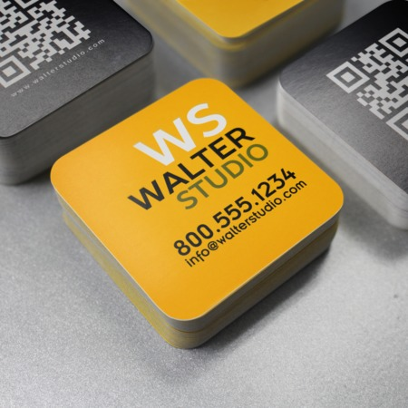 Square Rounded Corner Business Cards