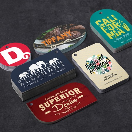 Die cut hang tags