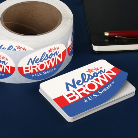 Campaign political sticker printing cut to size or roll uprinting