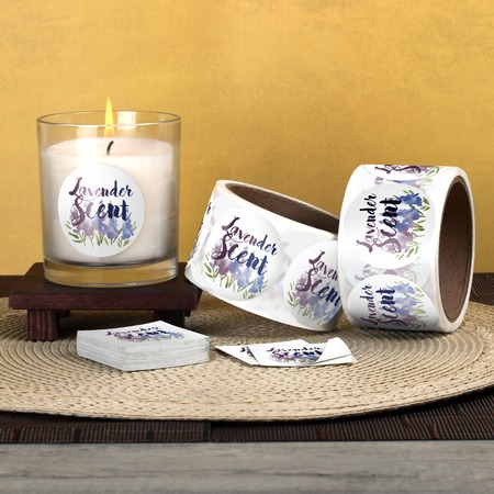 Personalised Stickers For Candles