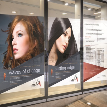 Salon Window Clings Printing Uprinting Com