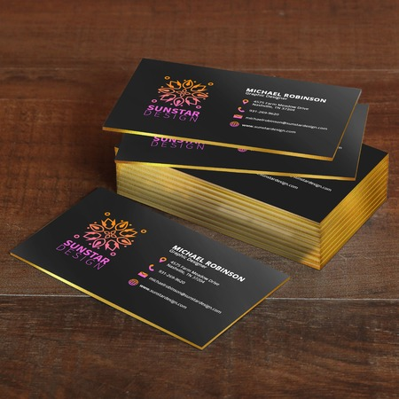 Painted edge business cards ultra thick cards uprinting reheart